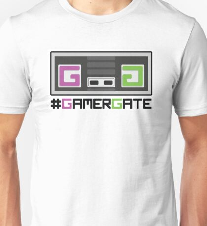 Pink and Green #GamerGate NES Controller Unisex T-Shirt