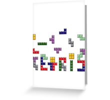 Tetris Greeting Card