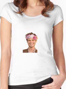 matthew gray gubler Women's Fitted Scoop T-Shirt