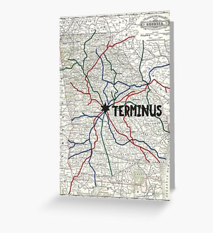 The Walking Dead - Terminus Map Greeting Card