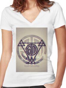 TSM Grunge Women's Fitted V-Neck T-Shirt