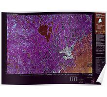 Maine USGS Historical Map Portland 808181 1985 100000 Inversion Poster