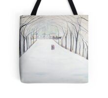 The  Silent Snowfall  Walk  /  Central  Park  NYC      Tote Bag