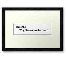 Bentrollio (black) Framed Print