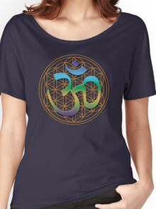Om FLower of Life Women's Relaxed Fit T-Shirt