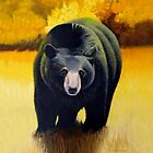Black Bear In Autumn by Jean Gregory  Evans