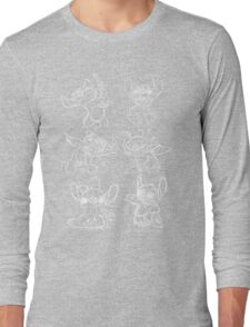 Rough Sketches of Stitch Collection Long Sleeve T-Shirt