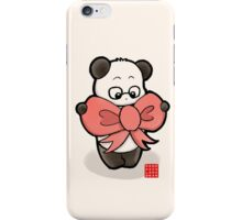 Panda In Pink Ribbon iPhone Case/Skin