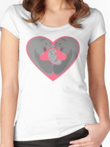 Love Manatees - Protect What You Love Women's Fitted Scoop T-Shirt