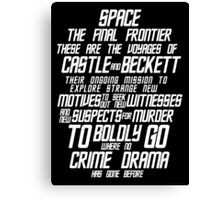 Castle The Final Frontier- v2a Canvas Print