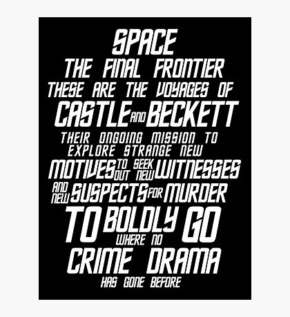 Castle The Final Frontier- v2a Photographic Print