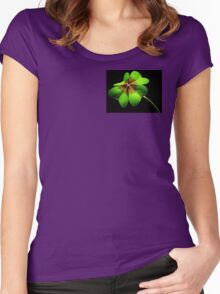 four leaf clover Women's Fitted Scoop T-Shirt