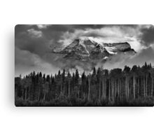 Clearing clouds: Mount Robson, British Columbia Canvas Print