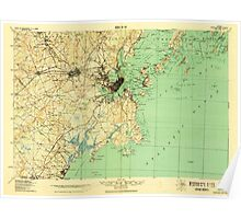 Maine USGS Historical Map Portland And Vicinity 807608 1918 62500 Poster