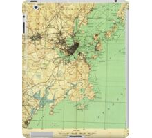 Maine USGS Historical Map Portland And Vicinity 807608 1918 62500 iPad Case/Skin
