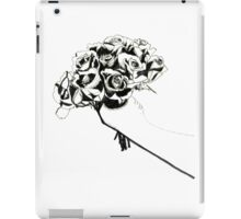 Line Drawing Of Roses iPad Case/Skin