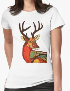 The Deer Womens Fitted T-Shirt