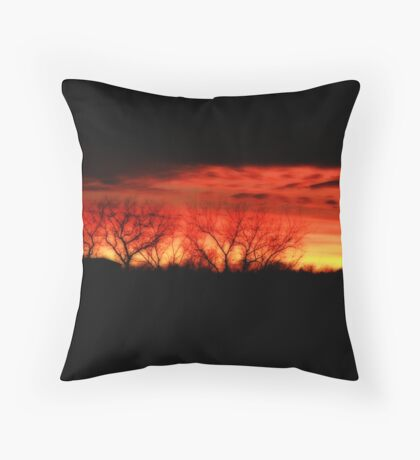 Sunset in Kansas Throw Pillow