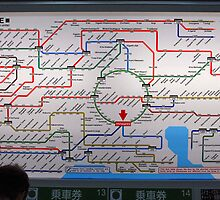 Tokyo Subway Map !!!!! by iansimages