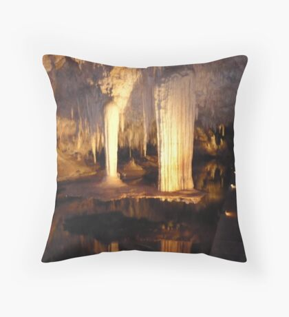 The Floating Table- Lake Cave Throw Pillow