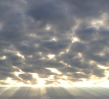 Amazing sky, Norfolk coast Sticker