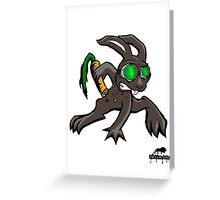 Carrots grant me Night Vision  Greeting Card