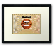 March Basketball Bracket Framed Print