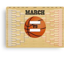 March Basketball Bracket Canvas Print