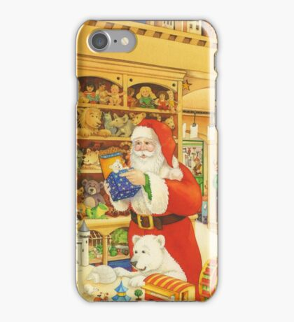 The Christmas Bear - Santa's Storeroom iPhone Case/Skin