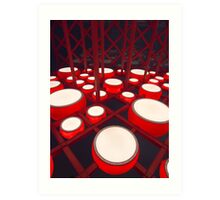Red Drums Art Print