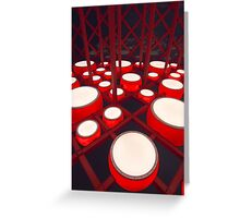 Red Drums Greeting Card