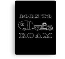 Born to Roam- 1952 International Pickup & Canned Ham in White Canvas Print