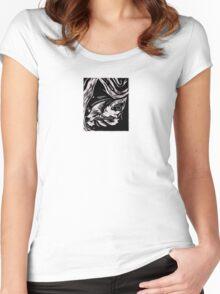 Cat Portrait Women's Fitted Scoop T-Shirt