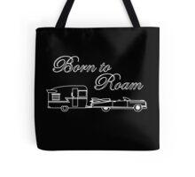 Born to Roam- Shasta & Caddy in White Tote Bag
