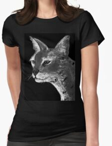 Stare Down B/W Tee Womens Fitted T-Shirt