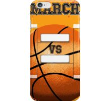 March Basketball Bracket iPhone Case/Skin