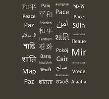 Multilingual Peace Unisex T-Shirt