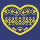 Love Ukraine - Vyshyvanka Heart by MaShusik