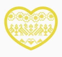 Love Ukraine - Vyshyvanka Heart Kids Tee