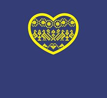 Love Ukraine - Vyshyvanka Heart Womens Fitted T-Shirt