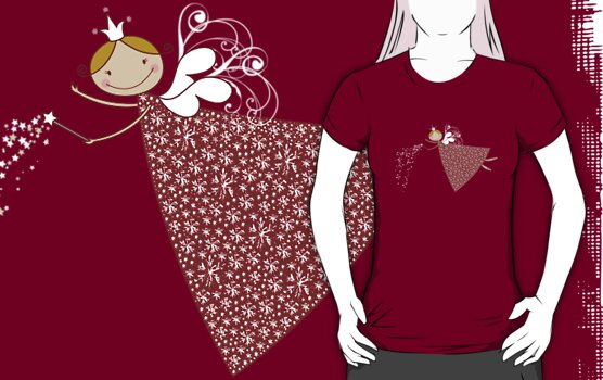 Magical Snowflakes Fairy T-shirt by fatfatin