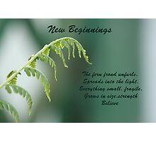new beginnings Photographic Print