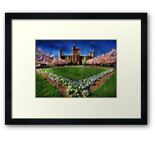 Smithsonian Castle Garden Framed Print