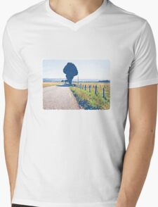 Empty road, the Morvan, Burgundy, France.  T-Shirt