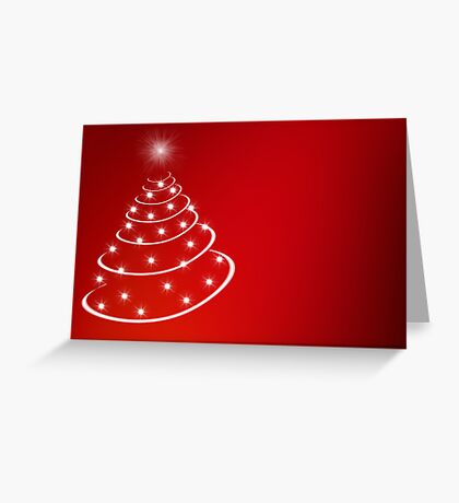 Christmas Tree with stars Greeting Card