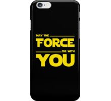 May The Force Be With You - Dark Geek Shirt iPhone Case/Skin