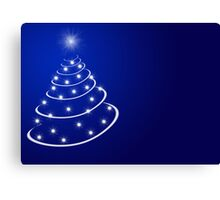 Christmas tree with stars Canvas Print