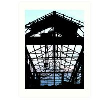 Building steel Art Print