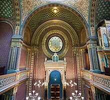 Interior of the Spanish Synagogue, Prague, Czech Republic by acaldwell