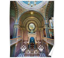Interior of the Spanish Synagogue, Prague, Czech Republic Poster